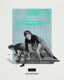 HELEN FRANKENTHALER. Collage_papel verjurado blanco roto_30x24cm/18x13cm. V.Rivas. #ForSale