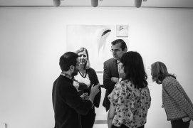 El comisario Miguel F. Campón y la artista Virginia Rivas junto a Belén Poole, Coord. del Centro de Arte de Alcobendas y Fernando Martínez, Concejal de Cultura del Ayuntamiento de Alcobendas